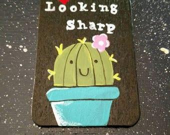 Mini Magnet Panel: Looking Sharp-Cactus Plant