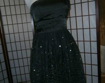 Women's One Shoulder Dress - Silver Sequins