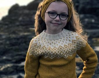 Kids Sweater, Kids wool sweater, Icelandic Sweater, Kids Fair Isle sweater, hand knit sweater, Bohéme Sweater, girls gift, boys gift