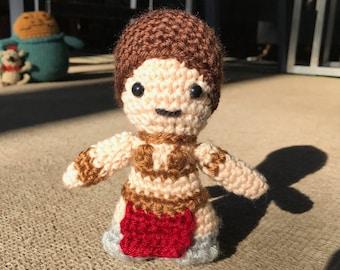Star Wars Slave Leia Amigurumi,  hand crocheted