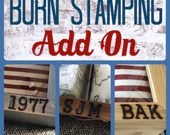 Burn Stamping - ADD ON - Watch Box