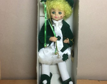 Brinn's 1988 March Clown Calendar Doll in Original Box - St Patrick's Doll -  Limited Edition