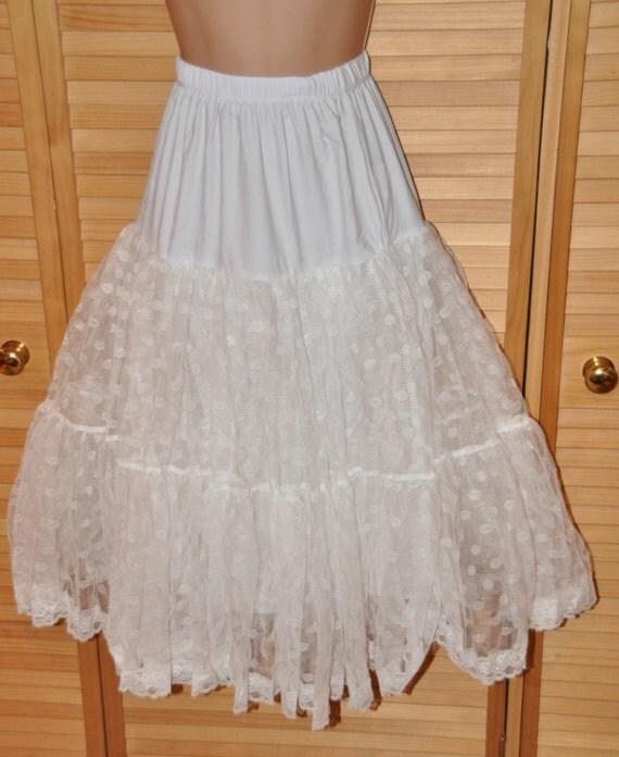 Utterly feminine Fluffy flouncing bunny petticoat for swirling around, 50's/swing style/rock 'n roll style, Sissy Lingerie