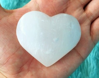 Selenite Heart Infused w/ Love and Reiki / Crystal Hearts