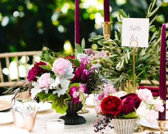 Wedding Table Numbers with Custom Calligraphy