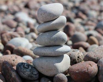 Rock Balancing Art - Relaxation Gift - Mindfulness - Balance Toy - Baltic Sea Stones