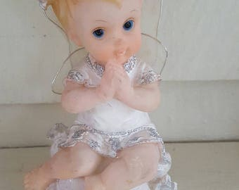 Sweet little baby cherub....angel decor...childs room....nursery