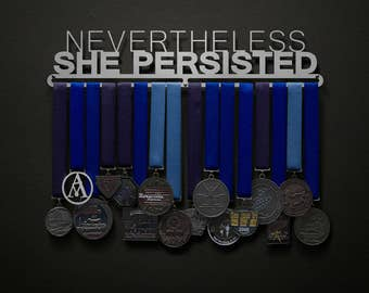 Nevertheless She Persisted - Allied Medal Hanger Holder Display Rack