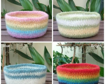 Textured Felted Wool Bowl