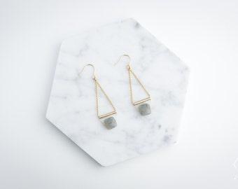 Unique Pendant Earrings CROATIA 14k Gold Filled natural Labradorite gemstones