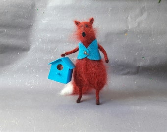 fox, knit, collecting , character, doll , Spring , Easter
