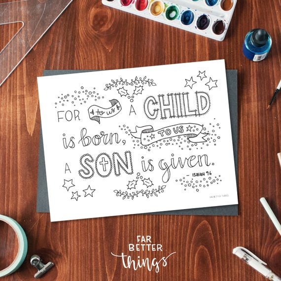 bible verse coloring page isaiah 96 printable coloring page bible verse coloring pages christian kids activity christmas coloring - Isaiah Coloring Pages For Kids