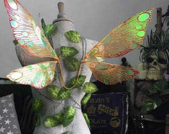 In Stock - Small/Med Glow in the Dark, Festival Fairy Wings