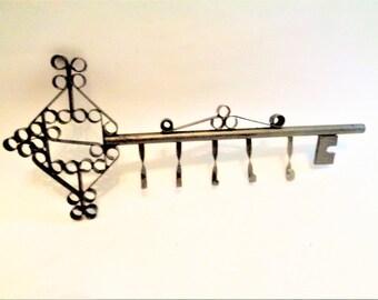 Wrought Iron Hanger, Key Hanger, Towel Hooks, Wrought Iron Wall Coat Rack, Coat Hook, Iron hanger, Vintage wall hook,