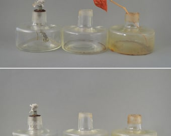 Vintage Alcohol Burner, Laboratory Glass Burner, Collectible Spirit Lamp, Instant Bud Vase Collection, Small Alcohol Torch Glass Bottles