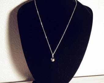 Single - Necklace - Black Pearl