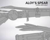 Horizon Zero Dawn Aloy's spear blueprint 1:1 scale