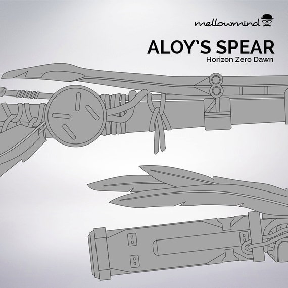 Horizon zero dawn aloys spear blueprint 11 scale from horizon zero dawn aloys spear blueprint 11 scale from mellowmindcosplay on etsy studio malvernweather Gallery
