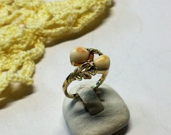 Ring costumes Grandeln gold 333 handmade forged GR286