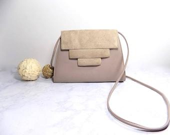 Vintage 70's Grey Handbag, Vintage Grey Purse, Vintage Handbag, Vintage Gray Handbag, Vintage Gray Purse, Unique Handbag, Small Gray Handbag