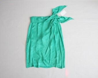 teal silk skirt   teal skirt   green silk skirt