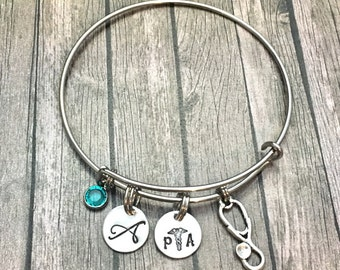 Physician assistant - PA gift - PA - PA jewelry - graduation gift - physicians assistant - pa charm - gift for pa - Graduation -