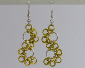 Stepping stones, Chainmaille earrings