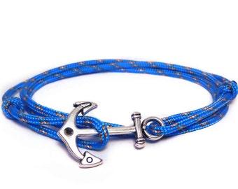 Anchor bracelet, Nautical bracelet, Men's Bracelet, Nautical, Paracord bracelet, Mens anchor bracelet, Nautical Rope bracelet, Wrap bracelet