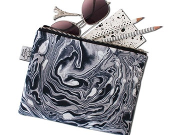 Marble zipper pouch/Marble pouch,Marble bag,Original ANJESY designs.
