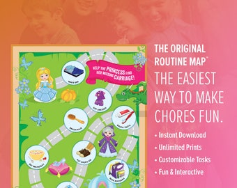 Princess Routine Map / A Better Chore Chart / Instant Download