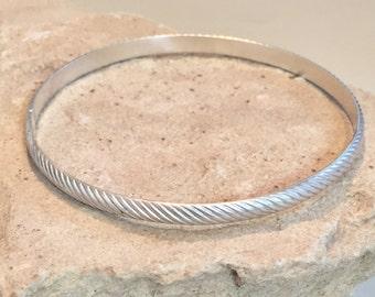 Sterling silver patterned bangle bracelet pattern bangle bracelet, stackable sterling silver bracelet, sterling silver bangle, gift for her