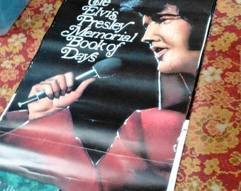 Cover Page From 1978 Calendar Featuring Pictures Of Elvis Presely/Pictures By Paul Lichter