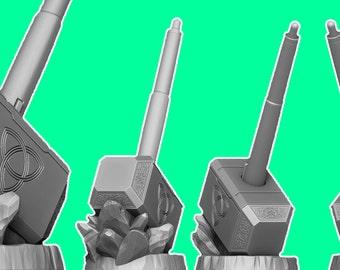 Wacom Pen Holder 3D Printed: Avengers Thor Mjolnir Edition for Digital Artists