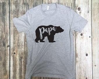 Papa Bear T-Shirt for Men - Papa Bear Shirt - Poppa Bear T-Shirt - Shirts for Dad - Bear Shirts for Dad - Dad Shirts - Father's Day Shirt