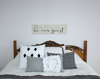 Be Our Guest, Guest Room Decor, Guest Room, Guest Bedroom, Wooden Sign, Rustic Sign, Custom Wooden Sign, Custom Sign, Home Decor, Wall Decor