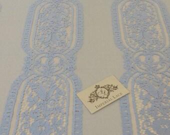 light Blue lace fabric, French Lace, blue chantilly lace, Wedding Lace, Bridal lace, blue Lace, Veil lace, Chantilly Lace  K00132