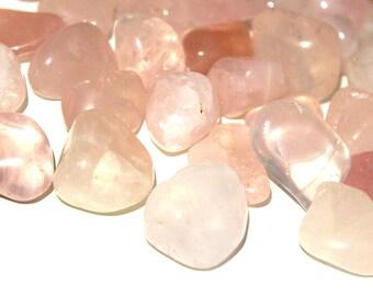 Rose Quartz Medium Tumbled Crystal, Natural Healing Stone, Pocket Stone, Heart Chakra, Meditation Crystal, Crystal Therapy, Home Decor, Gift