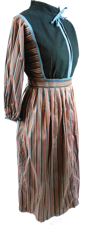 plus size uk 16 1970s vintage prairie dress midi boho