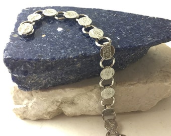 Vintage Sarah Cov Silver Tone Bracelet - Vintage Silver Link Bracelet - Retro Sarah Covington Jewelry