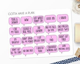 Planner Stickers Adulting Is Hard for Erin Condren, Happy Planner, Filofax, Scrapbooking