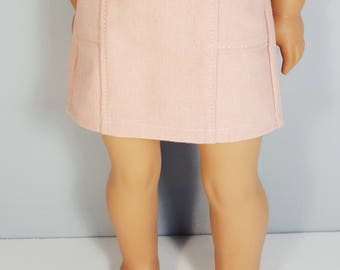 18 inch doll clothes Light Washed Denim Coral Skirt