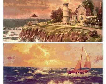 "Thomas Kinkade ""Two Nautical Quilt Panel"""