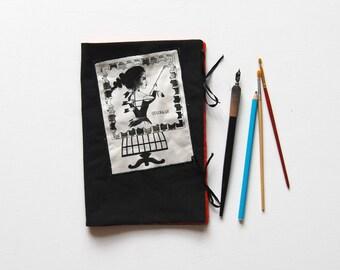 A5 pencils painting organizer case bag crayons black