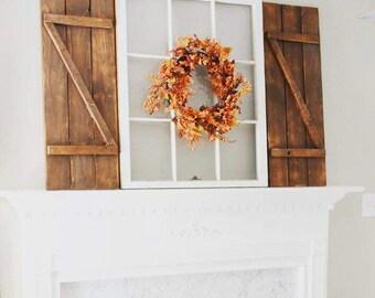 15x36 SET of farmhouse wood shutters, rustic wood window shutters, barnwood shutters, rustic wood shutter, country shutters,Rustic fatmhouse