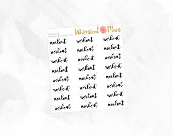 Workout | Clear Matte Glossy Planner Stickers