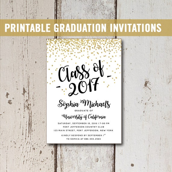Lively image for printable graduation announcements