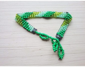 Stripes,Green,Beading,Loom Work,Bracelet,Tribal,Native American Design,Jewelry,Colorful,Fun,Beach,Bright,Stripe,Loom,Jewelry,Woodsy