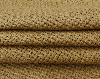 """Indian Fabric, Natural Fabric, Brown Burlap, Rustic Fabric, Sewing Crafts, Upholstery Fabric, 52"""" Inch Burlap Fabric By The Yard ZJC37A"""