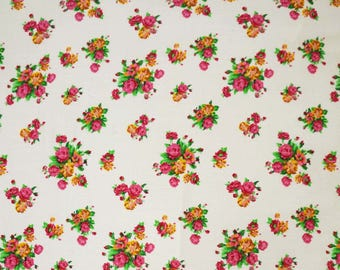 "Indian Dress Fabric, Floral Print, Designer Fabric, Apparel Fabric, Home Accessories, 43"" Inch Rayon Fabric By The Yard ZBR254A"