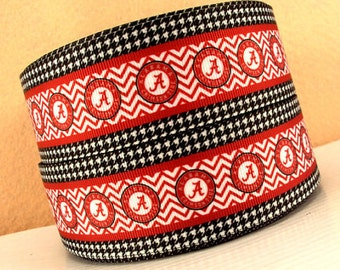 "University of Alabama 1.5"" Collar with Side Release Buckle (Martingale Option Available )"